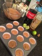 Spiced Rum & Coke Cupcakes