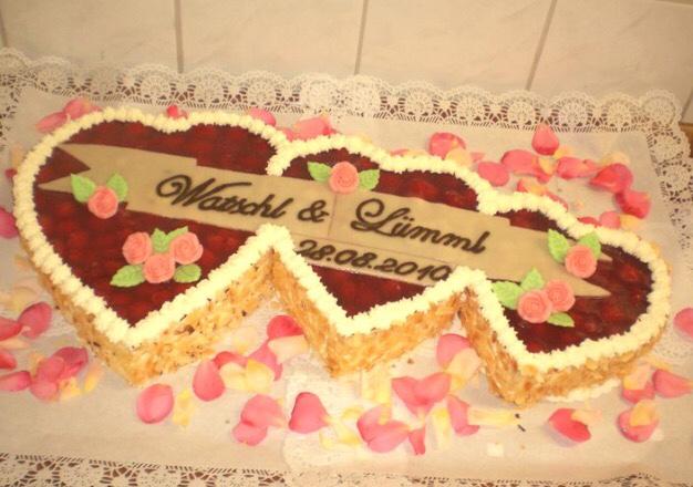 Three Heart Wedding Cake
