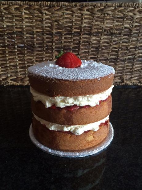 Vanilla Sponge | Cream | Strawberry Coulis | Fresh Strawberries