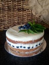 Almond Base   Prosecco and Elderflower Mascarpone Creme   Fresh Blueberries (GF)