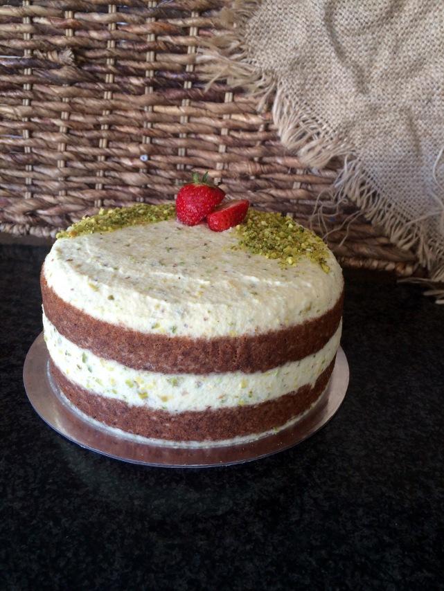 Pistachio & Prosecco Cake