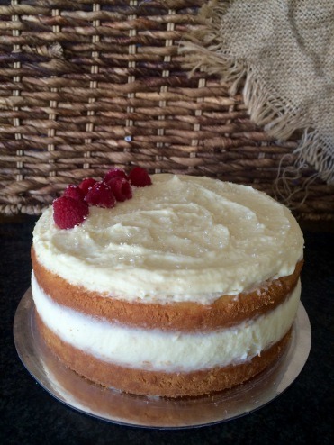 Almond Base | White Chocolate Ganache | Fresh Raspberries (GF)
