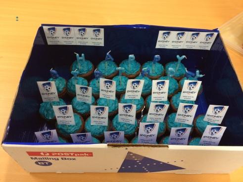 Sydney FC Rum & Coke Cupcakes | Buttercream Icing