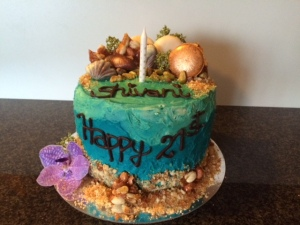 Stupendous Ocean Themed Birthday Cake Everylastcrumbcakery Funny Birthday Cards Online Aeocydamsfinfo