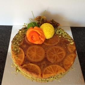 Orange & Almond Upside Down Cake