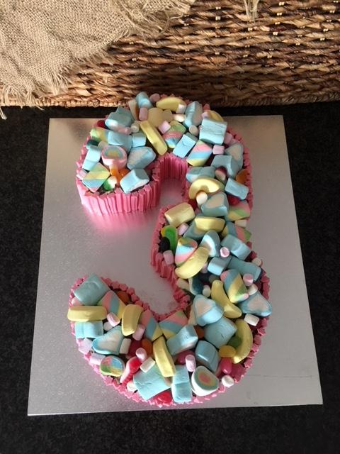 No 3 Birthday Cake