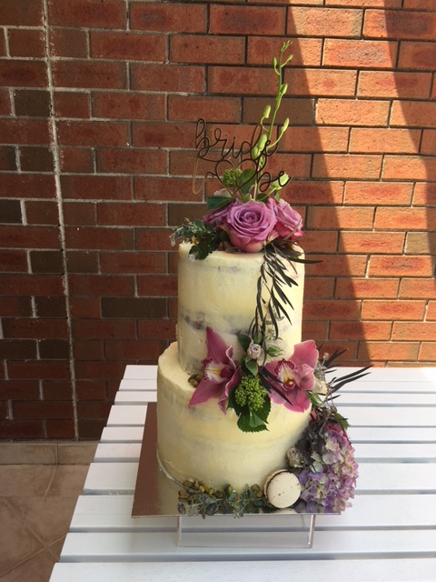 Two Tiered Bridal Shower Cake