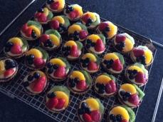 Mini Fruit Tartlets with Vanilla Custard