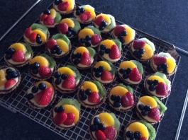 Mini Fruit Tartlets with Vanilla Custard