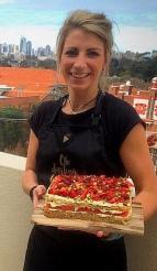 Watermelon & Rosewater Cake Slab