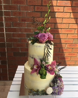 2 tier White Choc & Raspberry Bridal Shower Cake