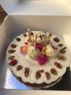 Carrot & Beetroot Cake and Cake Pops