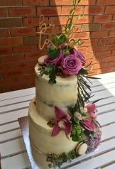 2 tier White Choc & Raspberry Bridal Shower Cake