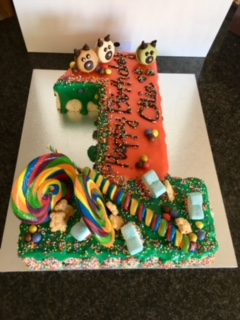 Victoria Sponge Numbered Cake | Lollies