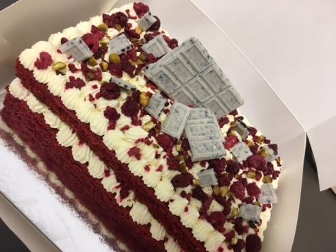 Cookies & Cream Red Velvet Cake Slab