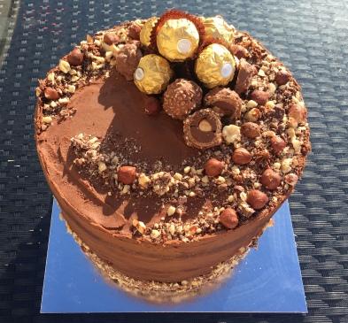 Large 10 inch Ferrero Rocher Cake