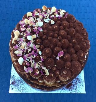 Gluten Free Tiramisu Layered Cake