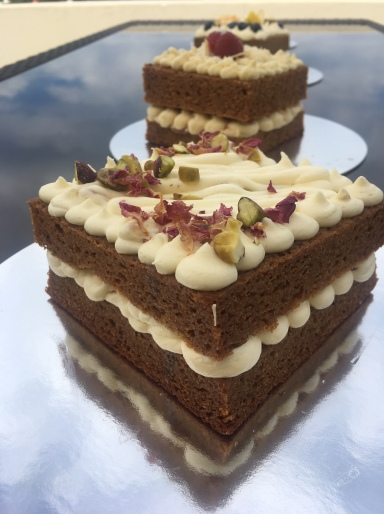 No Egg Pistachio & Rose Wedding Cake Taster