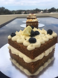 No Egg Blueberry, Lemon & Elderflower Wedding Cake Taster