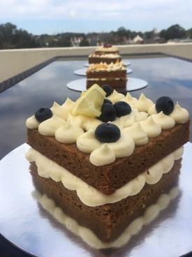 No Egg Blueberry, Lemon & Elderflower Wedding Cake Taster