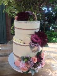 2 tier White Choc & Raspberry Cake